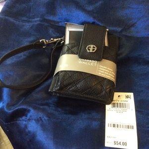 New with tags Gianni Bernini Black Wallet Wristlet